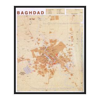 Map of Baghdad, Iraq (2003) Canvas Print