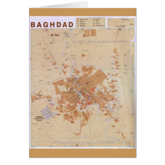 Map of Baghdad, Iraq (2003) Card