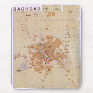 Map of Baghdad, Iraq (2003) Mouse Pad
