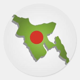 Map of Bangladesh Classic Round Sticker