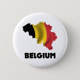 Map Of Belgium 6 Cm Round Badge
