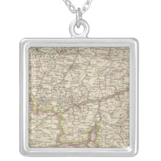 Map of Belgium and Luxembourg Silver Plated Necklace