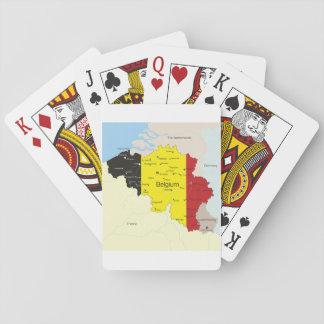 Map Of Belgium Playing Cards