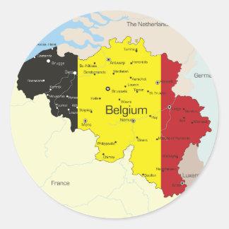 Map Of Belgium Stickers