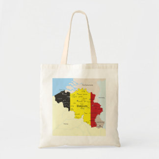 Map Of Belgium Tote Bag