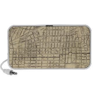 Map of Berkeley, California Portable Speakers