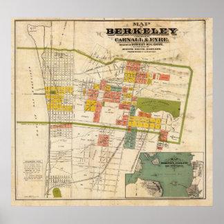 Map of Berkeley Poster
