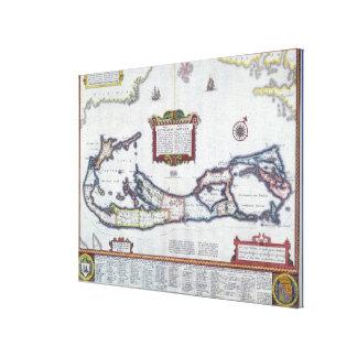 Map of Bermuda Canvas Prints