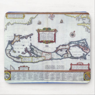 Map of Bermuda Mouse Pad