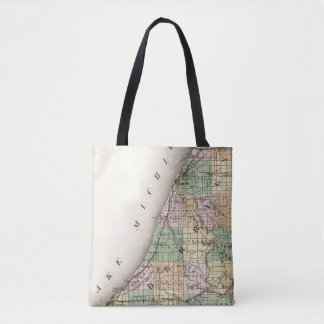 Map of Berrien County, Michigan Tote Bag