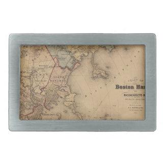 Map Of Boston 1861 Belt Buckles