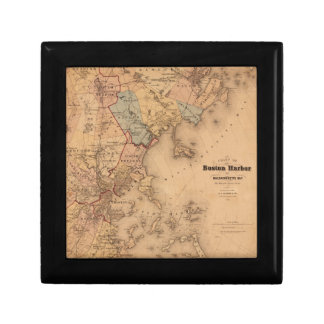 Map Of Boston 1861 Gift Box