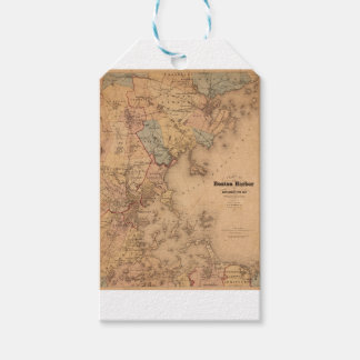 Map Of Boston 1861 Gift Tags