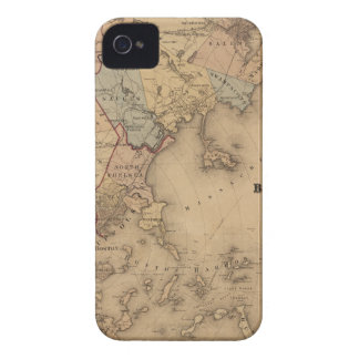 Map Of Boston 1861 iPhone 4 Case-Mate Case