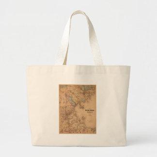 Map Of Boston 1861 Large Tote Bag
