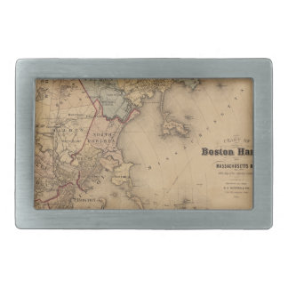 Map Of Boston 1861 Rectangular Belt Buckle