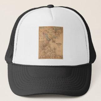 Map Of Boston 1861 Trucker Hat