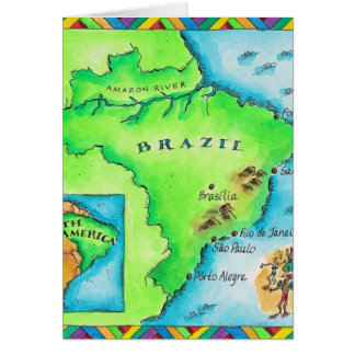 Map of Brazil Card