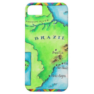 Map of Brazil iPhone 5 Covers
