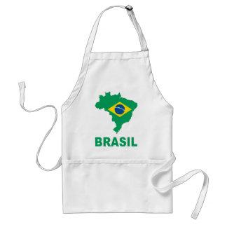 Map Of Brazil Standard Apron