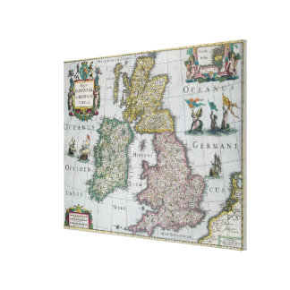 Map of Britain, 1631 Canvas Print