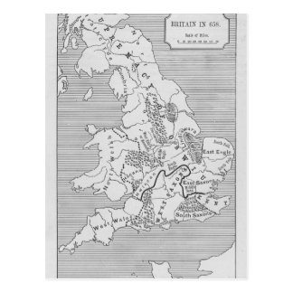 Map of Britain produced by Stanford's Postcard