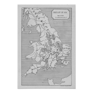 Map of Britain produced by Stanford's Poster
