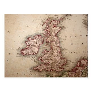 Map of British Isles Postcard
