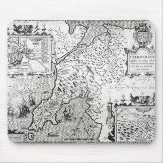 Map of Caernarvon, 1616 Mouse Pad
