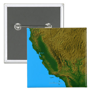 Map of California and Nevada 2 15 Cm Square Badge