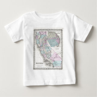 Map of California, Joseph Hutchins Colton Baby T-Shirt