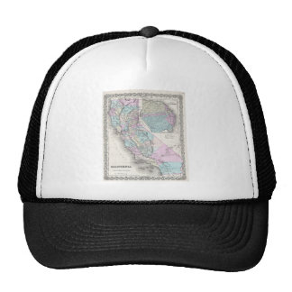 Map of California, Joseph Hutchins Colton Cap