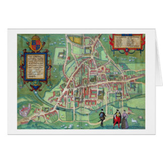 Map of Cambridge, from 'Civitates Orbis Terrarum' Card