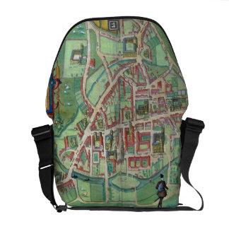 Map of Cambridge, from 'Civitates Orbis Terrarum' Courier Bags