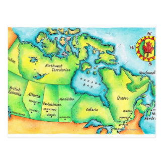 Map of Canada 2 Postcard