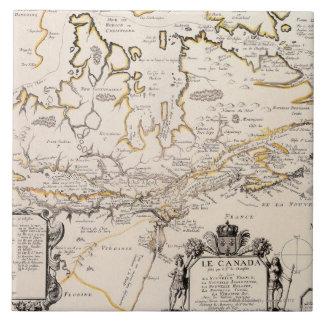 Map of Canada Ceramic Tile