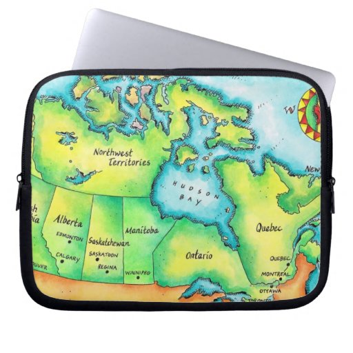 Map of Canada Computer Sleeve