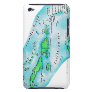 Map of Caribbean Islands iPod Case-Mate Cases