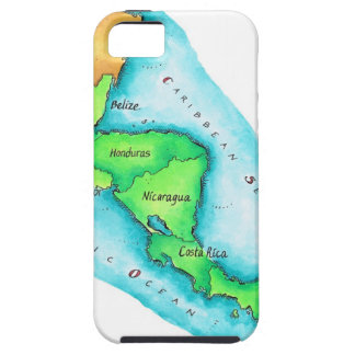 Map of Central America iPhone 5 Case