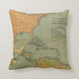 Map of Central America & Surroundings (1909) Cushion