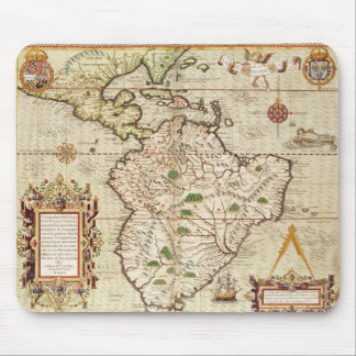 Map of Central and South America Mouse Pad