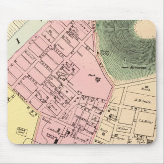 Map of Charleston, West Virginia Mousepads