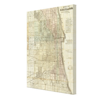 Map Of Chicago Canvas Prints