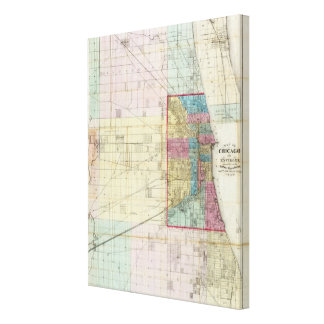 Map of Chicago Gallery Wrapped Canvas