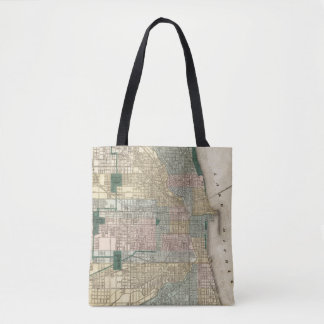 Map of Chicago City Tote Bag