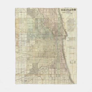Map Of Chicago Fleece Blanket