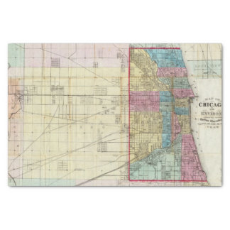 Map of Chicago Tissue Paper