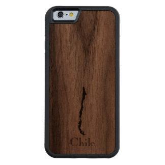 Map of Chile: Classic Design Carved Walnut iPhone 6 Bumper Case