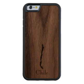 Map of Chile: Classic Design Walnut iPhone 6 Bumper Case