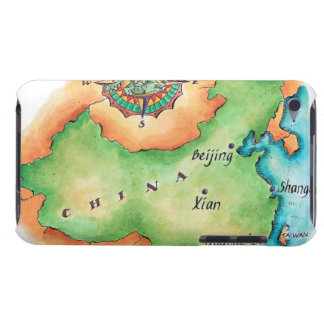 Map of China Barely There iPod Cases